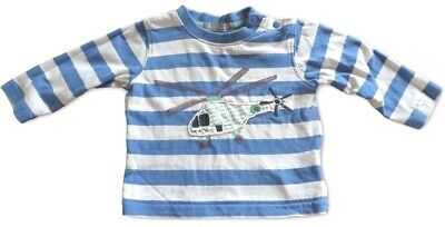 PUMPKIN PATCH Shirt ~ Boys 000 ~ Long Sleeve Helicopter Applique Press stud