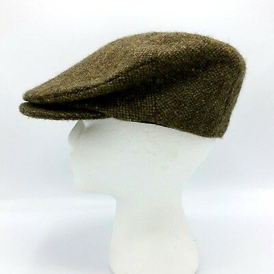 Hanna Hats Donegal Tweed Ireland Pure New Wool Flat Touring Cap Hat M Medium deb333605dc