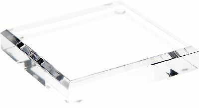 """Plymor Brand Clear Acrylic Square Beveled Display Base.75"""" H x 4"""" W x 4"""" D New"""