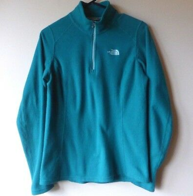 The North Face Midlayer, S/M, Fleece, Teal Green/Blue, Quarter Zip, Hiking - GUC