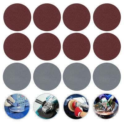 100x 3 Inch Sandpaper Sanding Disc Hook Loop Backed Pad Polishing P80-3000 US