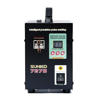Hand Held SUNKKO 737B Battery Spot Welder with Pulse Display 1.5 kw 0.2 mm