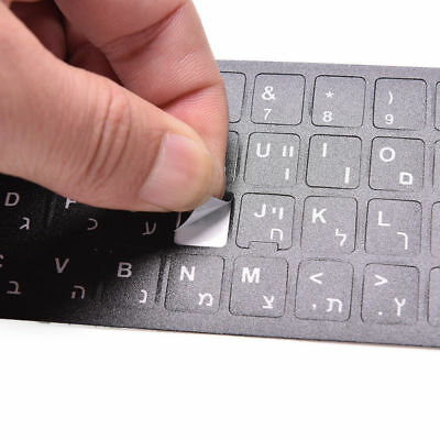 Multi-lingual Letter Keyboard Stickers Fit Macintosh/Centered English Letters TR