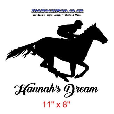 Horse Racing jumping decal stickers for horsebox or trailer Tack room & more
