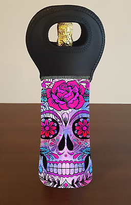 Skull Wine Bottle Cooler Carry Bag