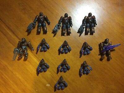 12 covenant figures halo Mega Bloks with weapons