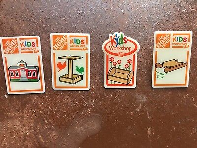 Home Depot Kids Workshop collectible Pins - Choose 1 or all 4