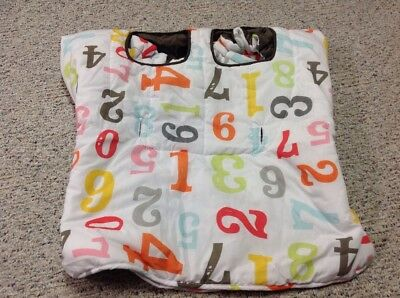 Infantino Cloud Washable Cloth Shopping Cart Cover for Babies & Toddlers NUMBERS