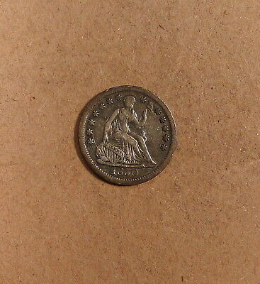 1850 Seated Half Dime grades VF, Great for Type