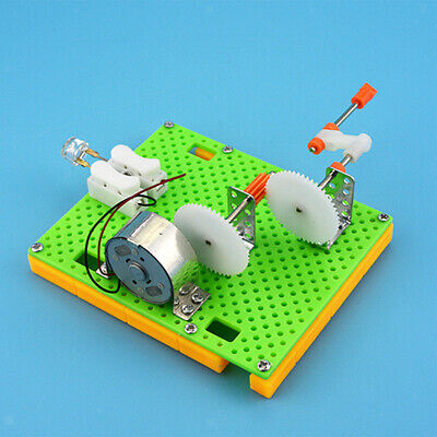 Children Physics Learning Science Education Toy Assembe Hand Crank Generator
