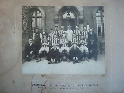 1918-19 Large Vaughan Bros Willenhall Locksmiths Team Football Photograph