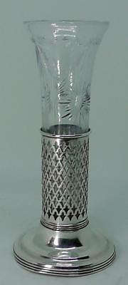 Solid Sterling Silver Overlaid Vase Circa 1900