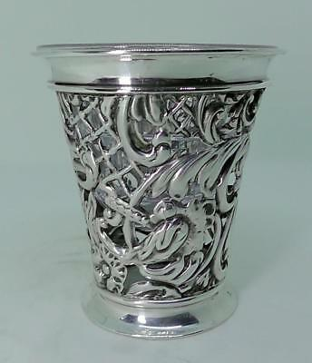 Solid Silver Overlaid Vase Dates 1898 Synyer & Beddoes (S*B)