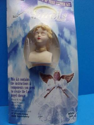 Victorian Angel Centerpiece or Tree Topper Craft Kit Head Hands & Lace New