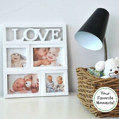 Collage Photo Picture Frame LOVE x 4, Baby and Kids Photo. Gift for Mothe... New