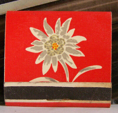 Rare Vintage Matchbook F3 Chicago Illinois Swiss Chalet Bismarck Hotel Flower