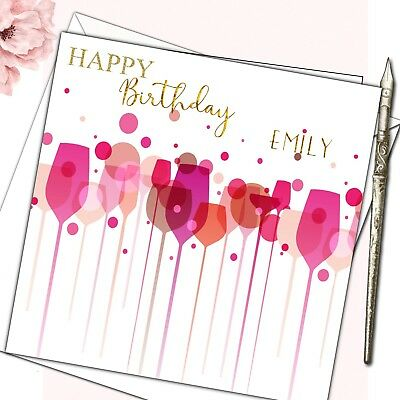 Personalised Birthday Card Female Mother Daughter Sister Friend 30th