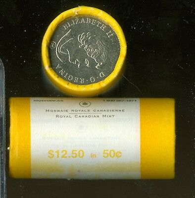 2007 CANADA RCM ROYAL MINT 50 CENTS SEALED ROLL OF 25 COINS SPOTLESS