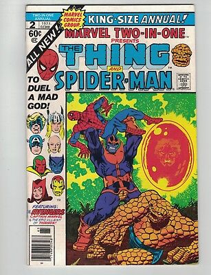 Marvel Two In One Annual #2-1977-1St. App. Master Order & Lord Chaos-Thanos-Vg+