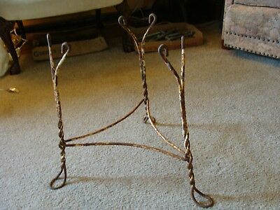 Antique Ice Cream Table Parlor BASE ONLY Bent Metal Legs Child Size