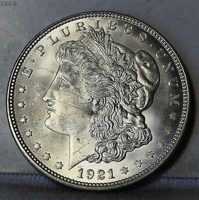 "1921 Morgan Silver Dollar ""Very Choice BU"" *Free S/H After 1st Item*"