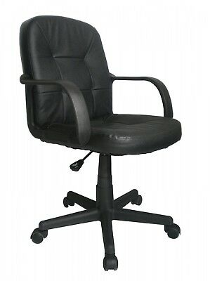 Home Office Furniture Desk Chairs Sofas Medium Back Leather Faced Armchair NEW