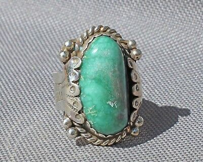 Ladies Sterling ring Candelaria hills turquoise mine  Jim Saunders, RG-607
