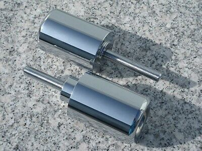 1996-2008 Yamaha YZF600 YZF600R YZF 600 600R NO-CUT CHROME BILLET FRAME SLIDERS