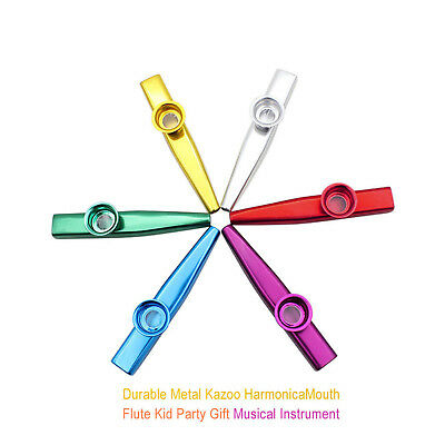 Durable and Metal Kazoo Harmonica Mouth Flute Kid Party Musical Instrumen S07