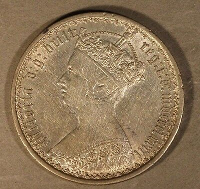 1873 Great Britain Gothic Florin High Grade Coin        ** FREE U.S. SHIPPING **