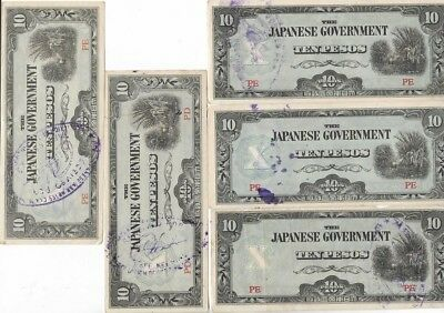 Rare Old Japanese Invasion Emergency Guerrilla Currency Collection Money War Lot
