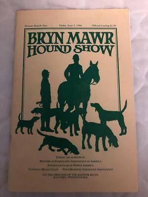 Dog Show Catalog 1994 AKC Bryn Mawr PA Hound Show Foxhound Assoc Beagle Club
