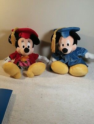 Walt Disney Store Mickey Mouse Cap and Gown Graduate Plush Stuffed Animal