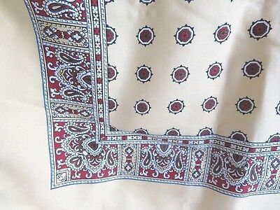 Italian All Silk Yellow Square Scarf with flowers & paisley Rooster Scrooge
