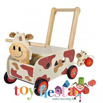 New I'm Toy Wooden Walk And Ride Cow Sorter - Fast Delivery