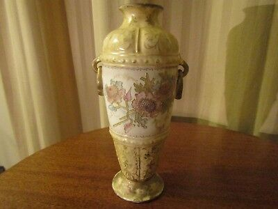 Antique Post-1890 Royal Bonn Porcelain Urn Vase Dual Handle Floral w/ Gold 9.5""