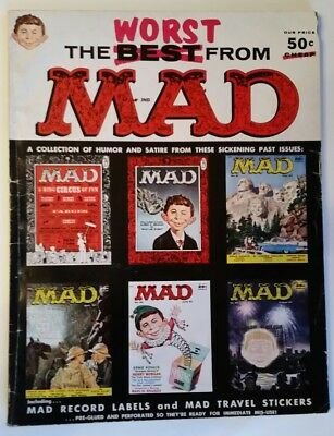 #1 Annual THE WORST FROM MAD Mag + BONUS Labels/Stickers 1958 FN- 5.5