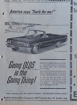 1963 newspaper ad for Oldsmobile - F-85 Cutlass Convertible, Captivating