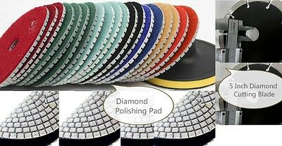 6 Inch Diamond Polishing Pad & Cutting Blade 10 Pieces Granite Concrete masonry