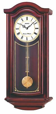 Pendulum Wall Clock Hourly Chimes Sound Living Room Decor Mahogany Solid Wood