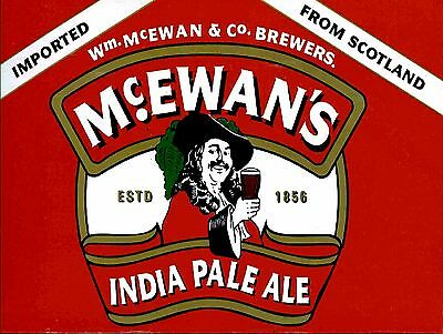 Mcewens, Retro metal Aluminium Sign vintage pub bar drink man cave shed wall