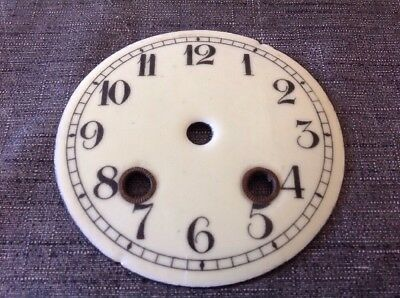 Antique Clock Dial Face Enamel 100mm Diam