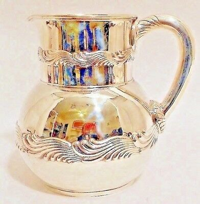 A sterling water pitcher, Wave Edge pattern, Tiffany & Co, c.1884-91