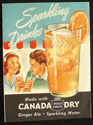1962 CANADA DRY Ginger Ale / Sparkling Water / SPUR / HI - SPOT Advertising