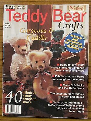 Best Ever Teddy Bear Crafts - Issue No. 1 Sew Cross Stitch Knit Crochet Stencil