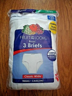 Fruit Of The Loom Boys Briefs Size Xs(2/4) - S(6/8) - M(10/12 - L(14/16)  3 Pair