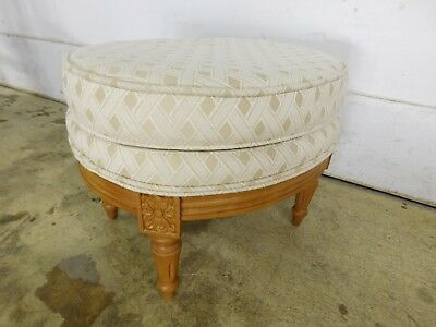Vintage Darling Smaller Ethan Allen French Louis XVI Upholstered Footstool Italy