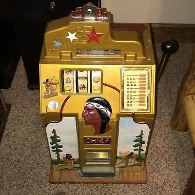 Jennings Hunting Chief Antique Slot Machine Beautiful!
