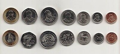 Mauritius: Complete Coins set of 7 denominations ( 2012 - 2016) all mint