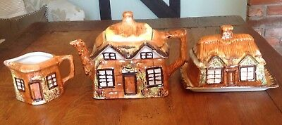 Three Pieces Of Price Kensington Cottage Ware - Teapot, Butter Dish And Milk Jug